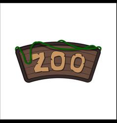 board zoo in cartoon style animals park vector image
