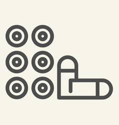Bullets line icon weapon vector