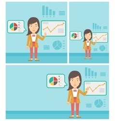 Businesswoman making business presentation vector image