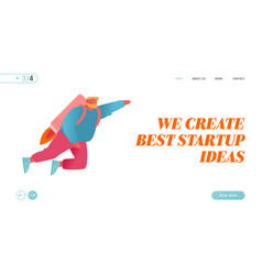 Career boost business start up and growth website vector