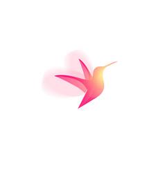 colibri or hummingbird spa and resort emblem vector image