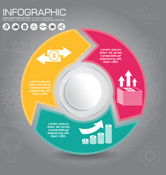 connected round infographic diagram circular vector image
