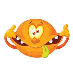 crazy orange vector image