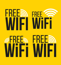 creative of free wifi icon vector image