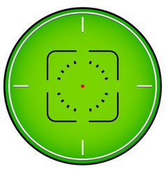 Crosshair reticle graphics vector
