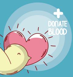 Donate blood cartoons card vector