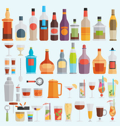 Drinks and beverages icon set vector