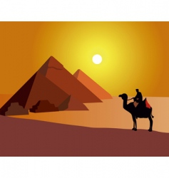 Egyptian pyramids vector image