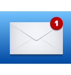 envelope on blue background Eps10 vector image