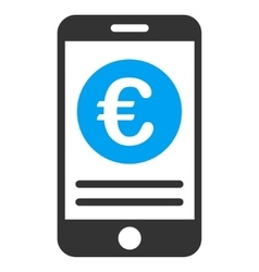 Euro Smartphone Banking Flat Icon vector image