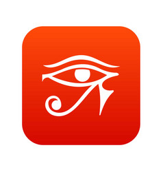 Eye of horus egypt deity icon digital red vector