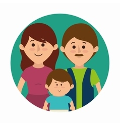 Family colorful cartoon vector