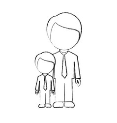 figure man with his son icon vector image