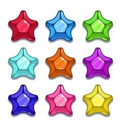 Funny cartoon colorful gems vector