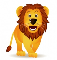 Funny lion vector