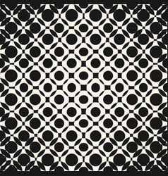 Geometric halftone seamless pattern with circles vector
