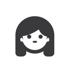 girl face icon vector image