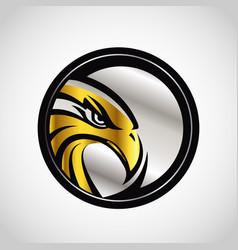 Gold silver hawk emblem logo sign symbol icon vector