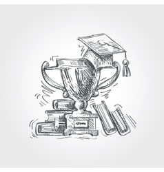 hand drawn sketch education school vector image