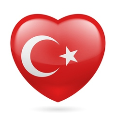 Heart icon of Turkey vector image