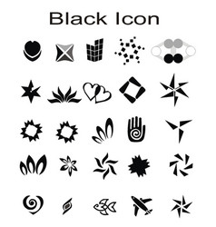 Icon logo set vector