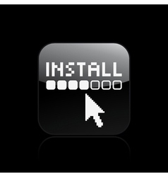 install icon vector image