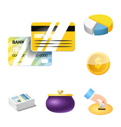 isolated object of bank and money logo collection vector image