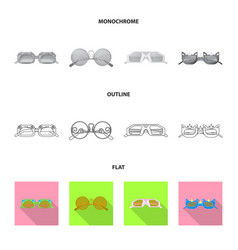 Isolated object of glasses and sunglasses sign vector