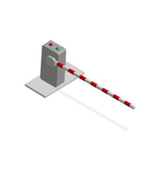 isometric barrier crossbar for opening and vector image