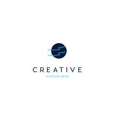 Line river networking creative business logo vector