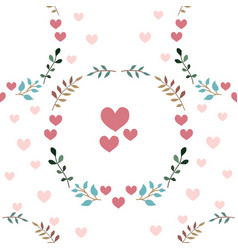 love seamless pattern retro style with hearts vector image vector image