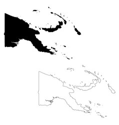 Map papua new guinea isolated vector