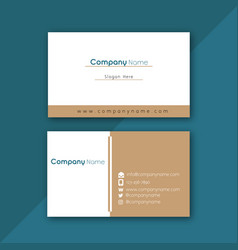 minimal white caramel business card image vector image