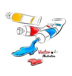 Paint tubes vector