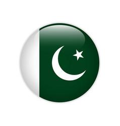 Pakistan flag on button vector