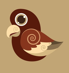 Pseudeosfuscata cute bird abstract prehistoric vector
