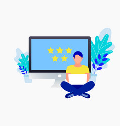rating flat concept vector image
