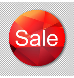 red sale label vector image