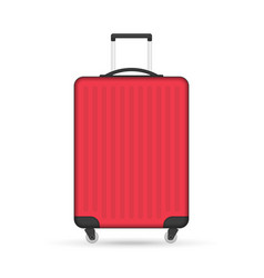 red travel suitcase vector image