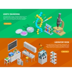 Science Horizontal Banners Set vector image