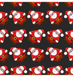 seamless christmass pattern santa claus vector image