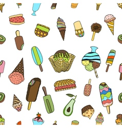 Seamless ice cream vector