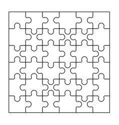 Set black and white puzzle pieces vector