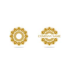 set of abstract elegant ornamental logo icon vector image