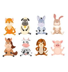 sitting animals vector image