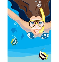 Snorkeling vector image