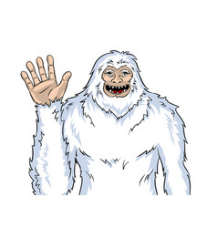 snowman mythical creature pop art vector image