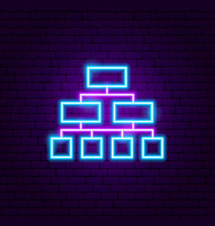 structure neon sign vector image