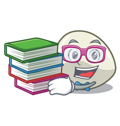 Student with book mozzarella cheese isolated on vector