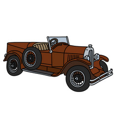 The vintage brown roadster vector
